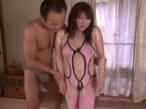 Cute Busty Japanese Girl In Swimsuit Fucking Her Coach At His Home