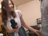 Interview Went Wrong When Hostes Alice Miyuki Became Horny