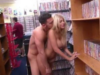 Shameless Couple Doing Quicky In The Library