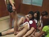Four Schoolgirls Abused Their Nerd Classmate CFNM Tekoki