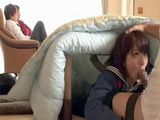 Occupied With Watching TV Daddy Didnt Have Clue What His Lovely Daughter Doing Few Meters Away