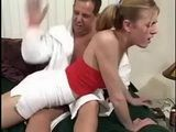 Bad Stepdaughter Punished With Spanking By Her Nasty Stepdad