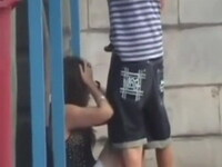 Voyeur Taped Boy Trying To Make His Unwilling Girl To Suck Him Off In Public
