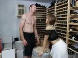 Big Boobed Girl Seduced Vintager To Fuck Her In Wine Cellar
