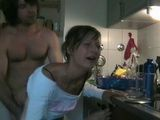 Amateur Girl Didnt Seem To Mind This Surprise Visit By Her Brother In Law In The Kitchen