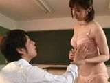 Milf Teacher Miyazaki Ai Gives Very Important Lesson To Her Student In the Classroom