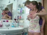 Naughty Stepbrother Grease Stepsisters Ass With His Big Cock