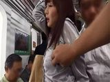 Japanese Girl Will Get To Know Some Guys Much Better In This Train